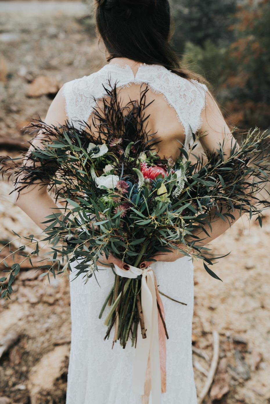 wildflower style wedding bouquet