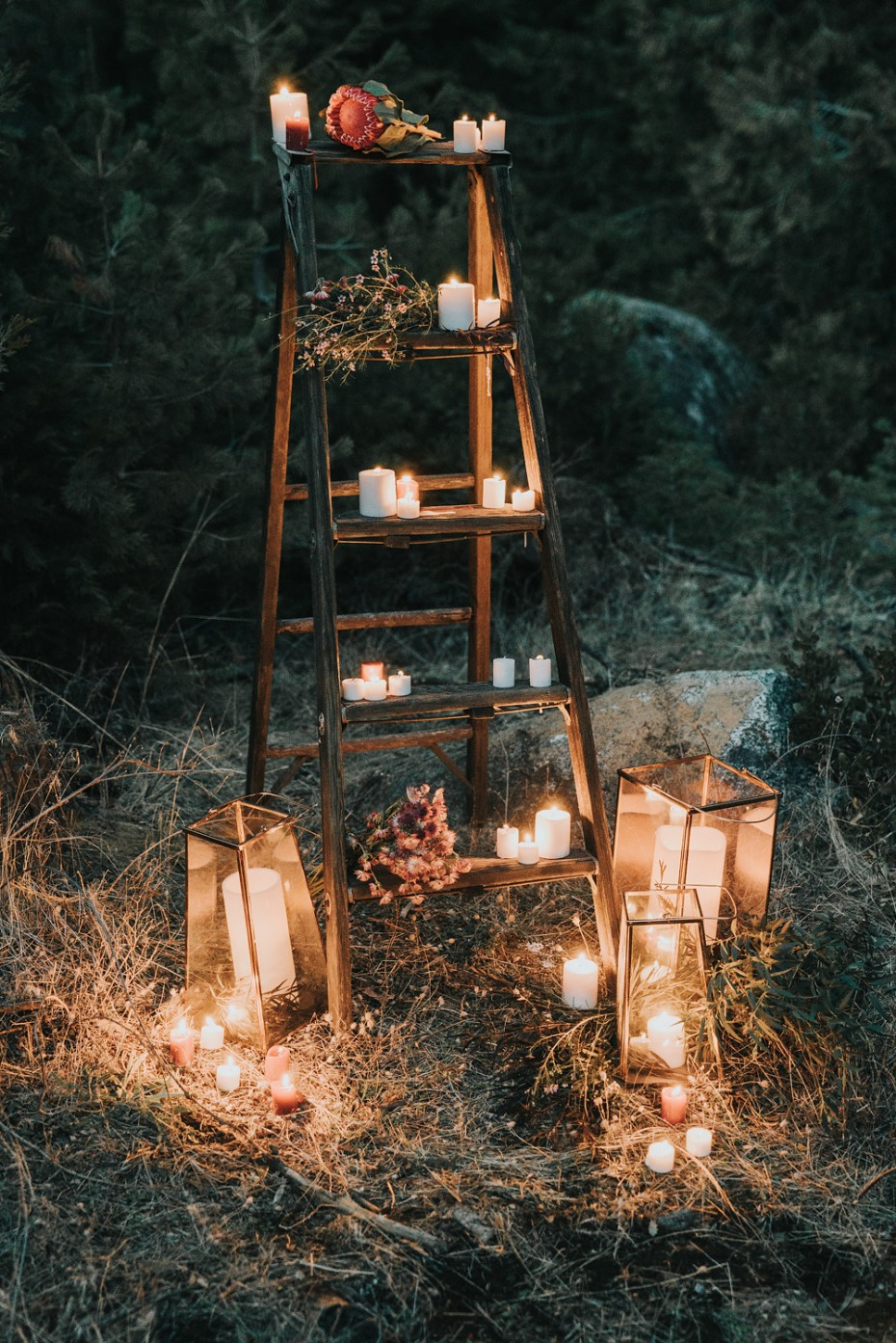 glowing outdoor wedding ideas