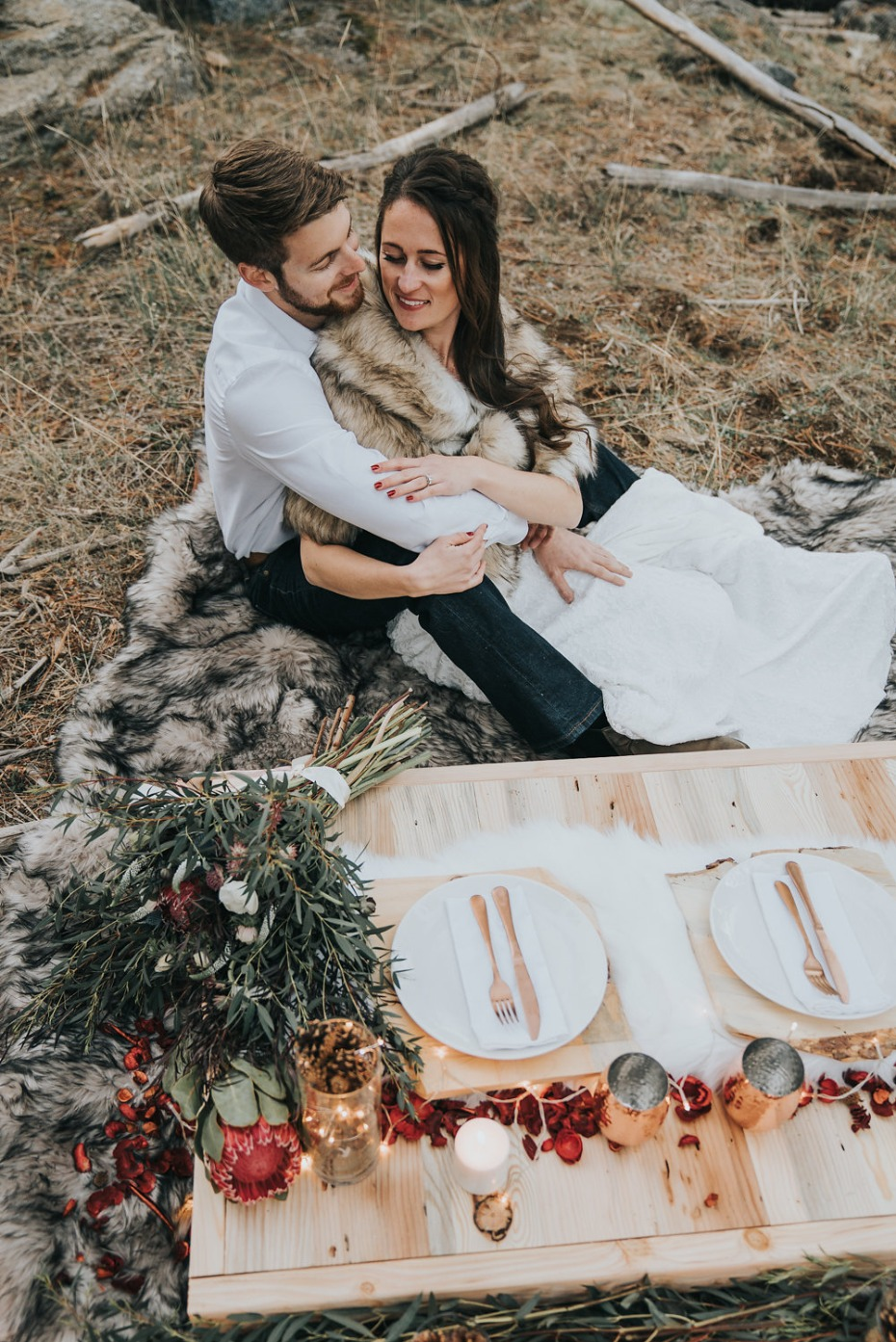 rustic chic mountain wedding idea