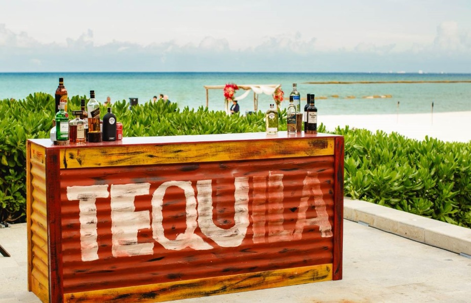 Cool tequila bar