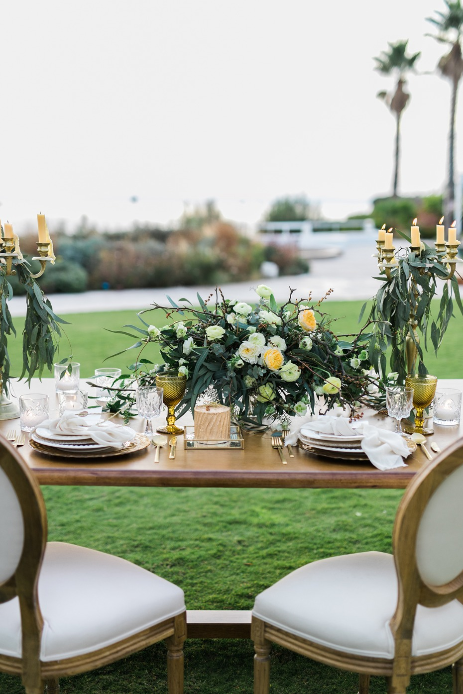 formal wedding table