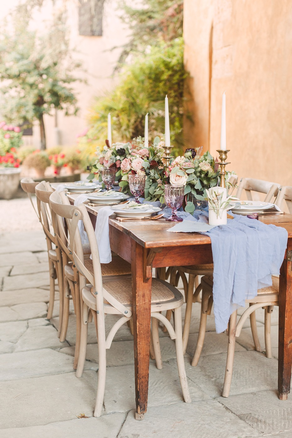 rustic and elegant chic wedding table decor