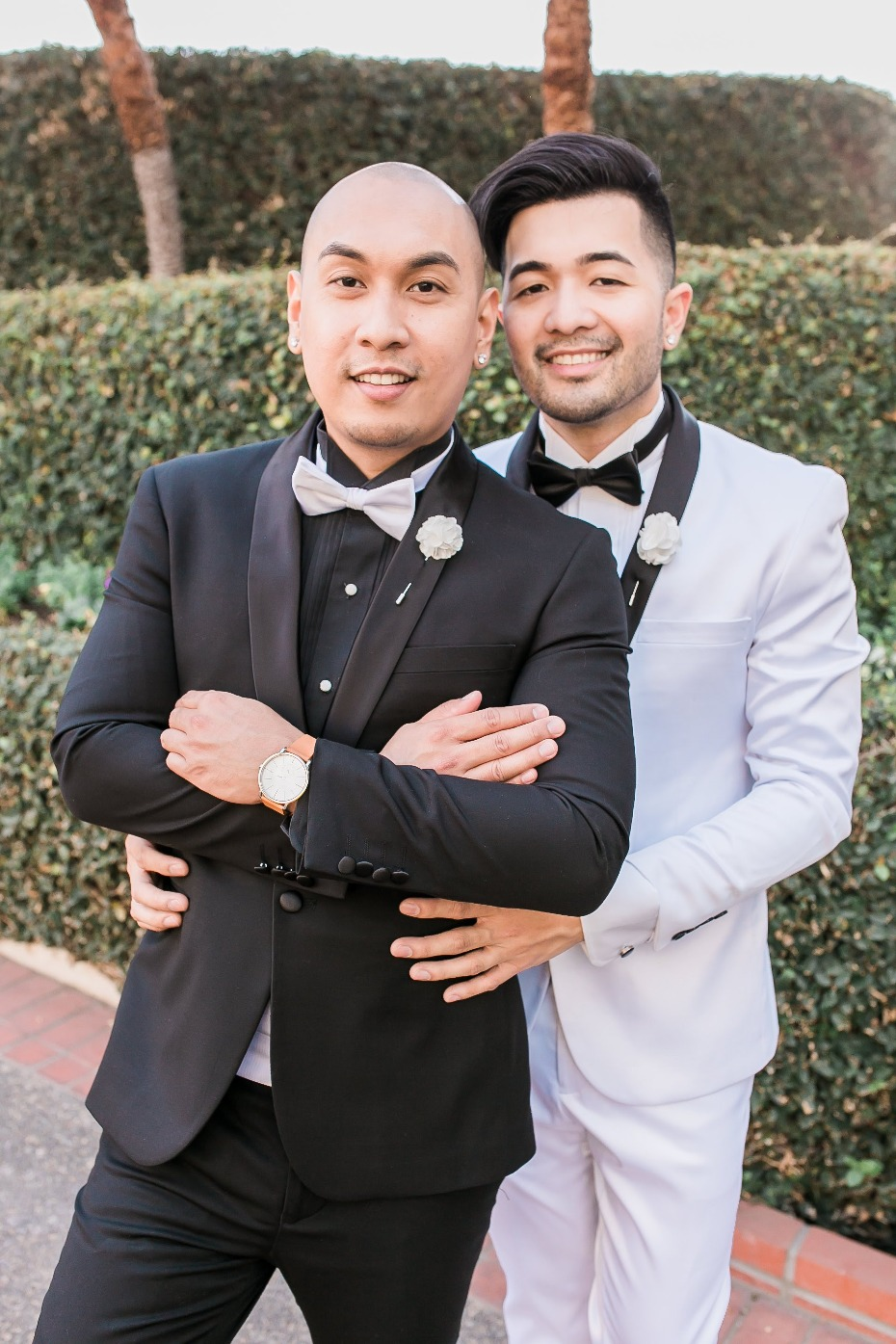 Glam black and white wedding for the Mr. and Mr.