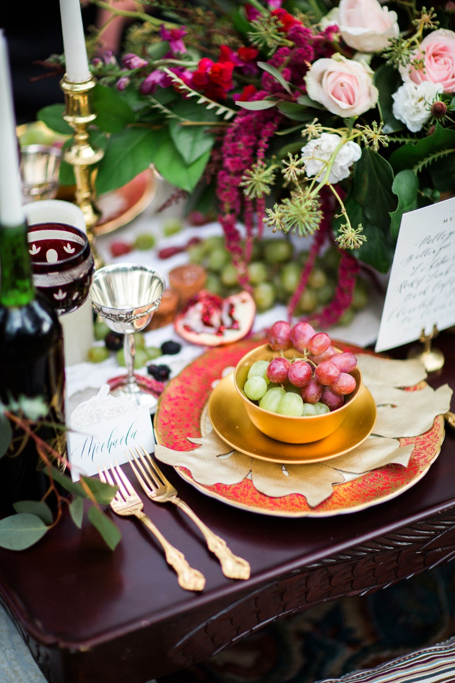 boho style wedding table for your fall wedding