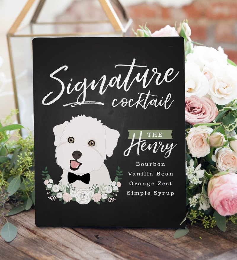 Y'all, chalkboards are IN this season! Come check out Miss Design Berry's chalkboard inspired Signature Cocktail sign featuring YOUR