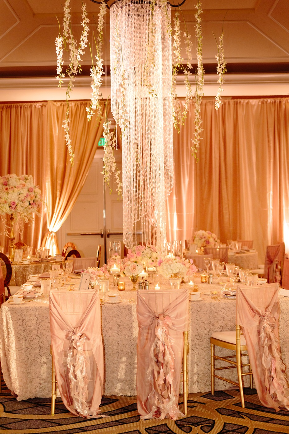 Lavish crystal centerpiece