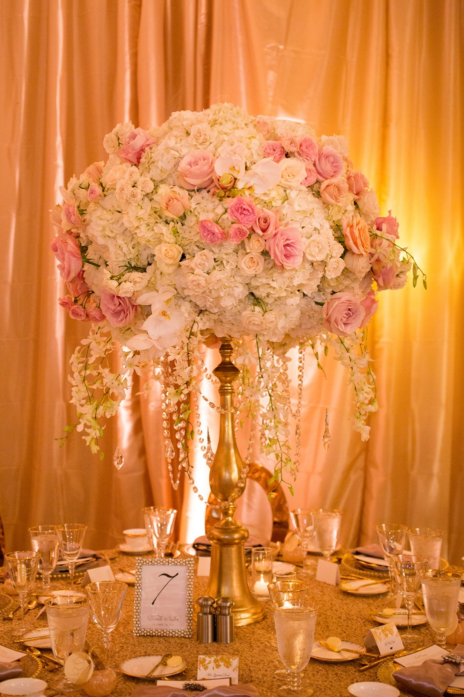 Glamorous floral centerpiece