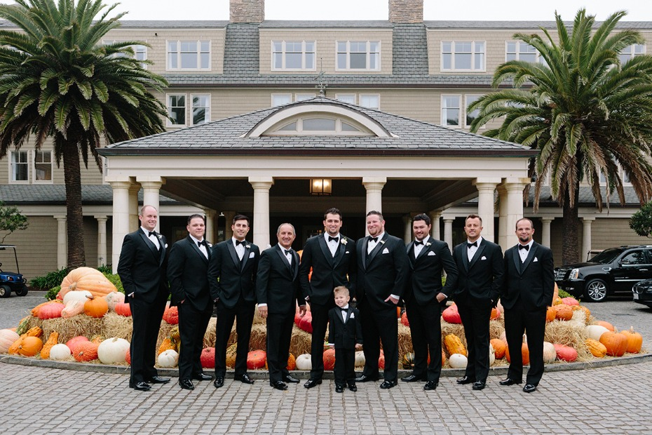 Classic tux look for the groom and his men