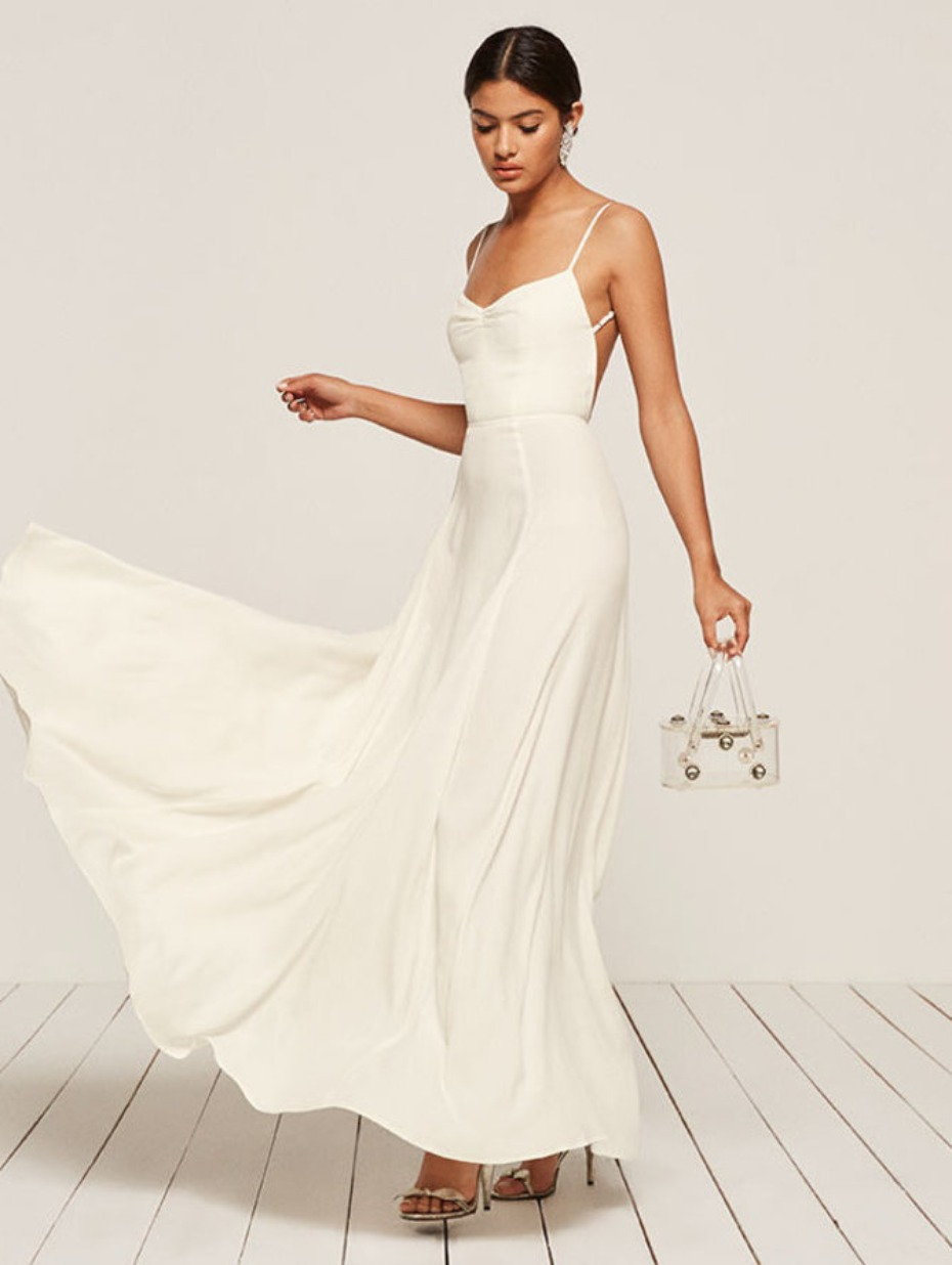 simple courthouse wedding dress