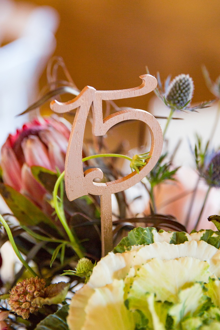 wedding table number flower centerpieces