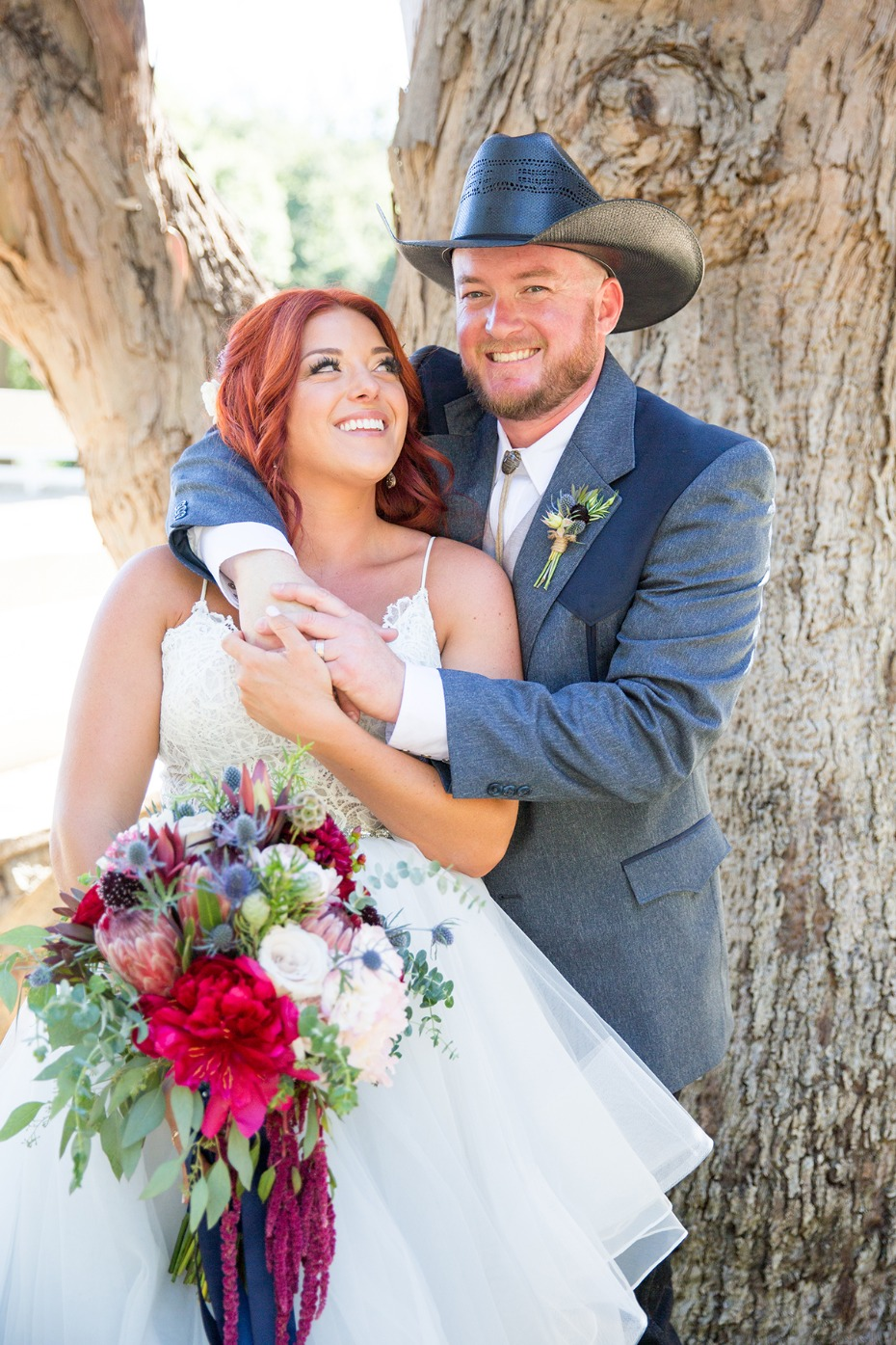 classic country wedding couple style
