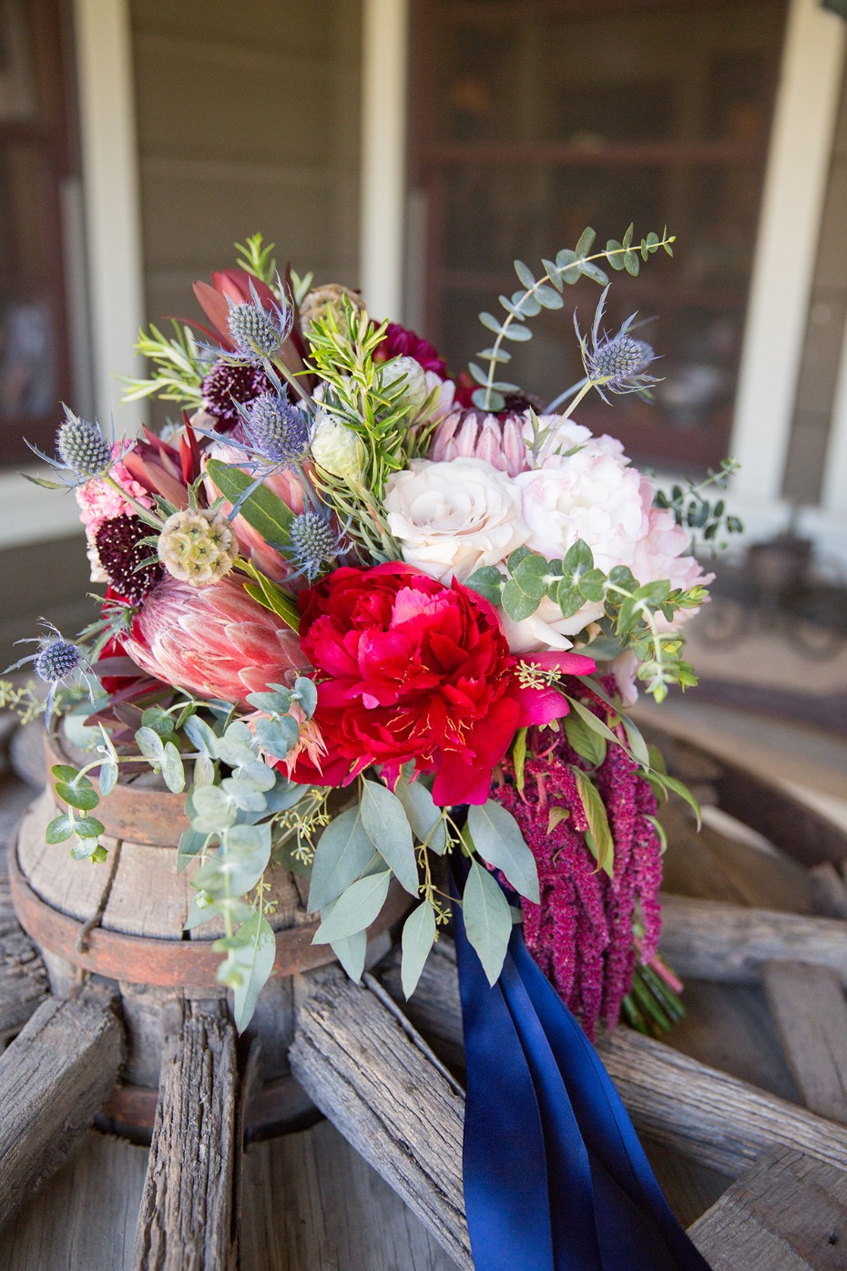 bridal bouquet for this classic country wedding day