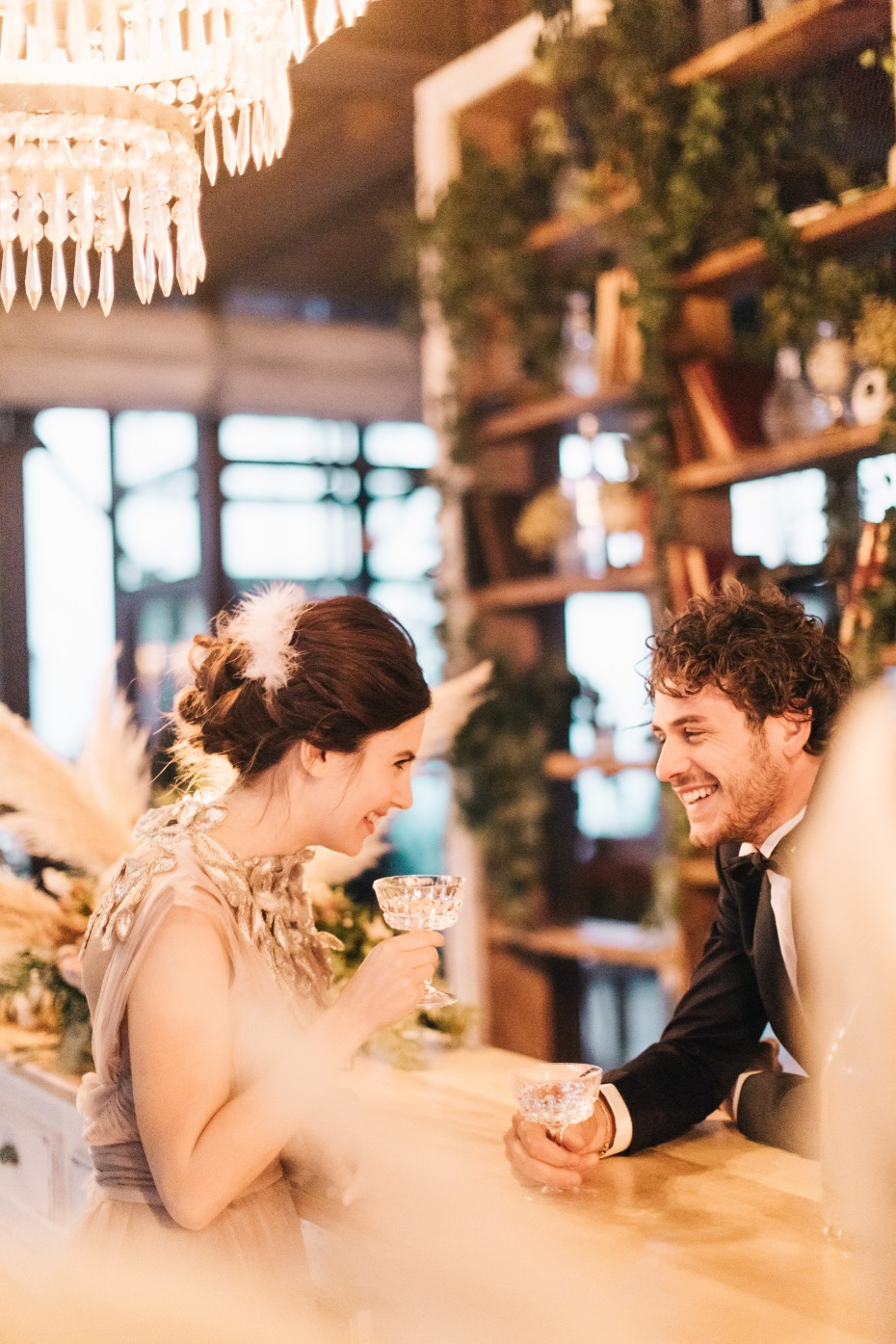 Romantic modern wedding shoot