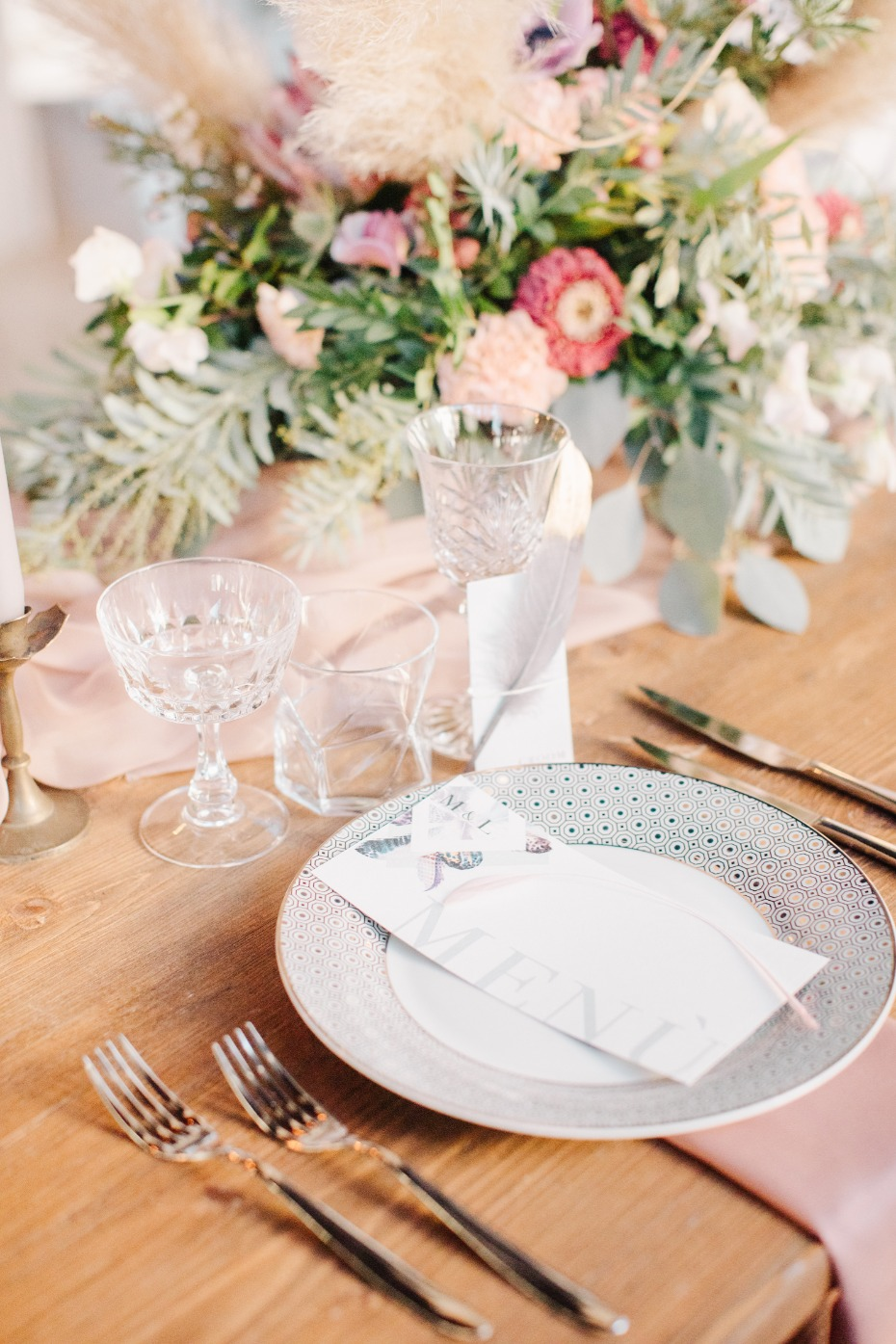 Clean and modern place setting