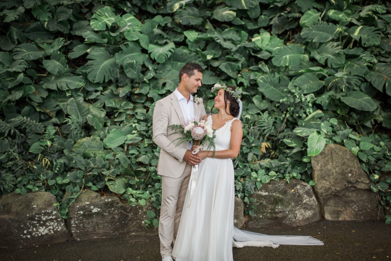 Kualoa Ranch is one of the most gorgeous venues to get married at here in Hawaii!