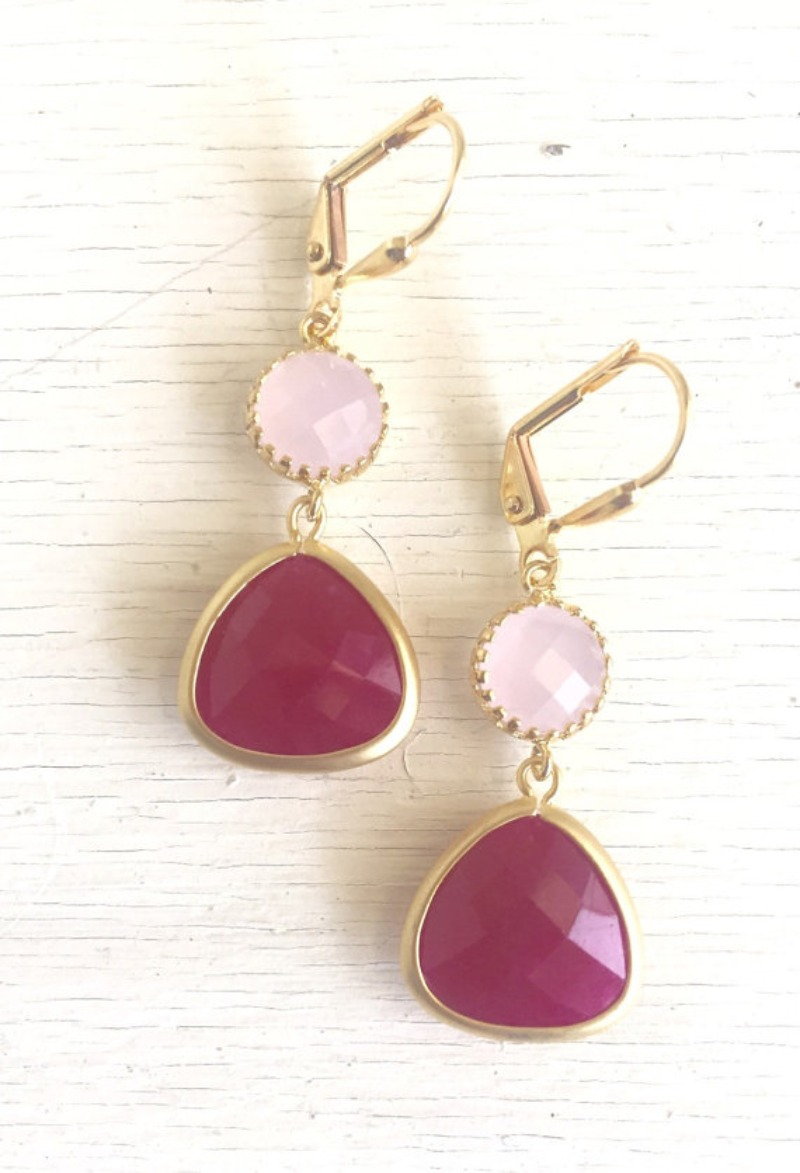 Awesome! Lovely! Bold and yet elegant! The shade of pink jewels in gold are just stunning and lovely!