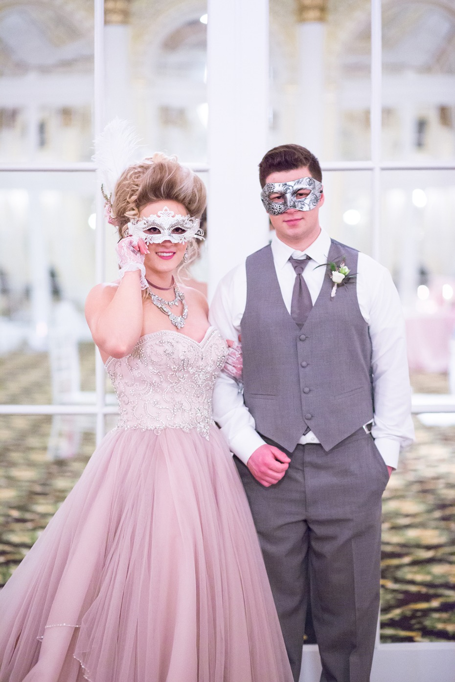 masquerade ball themed wedding