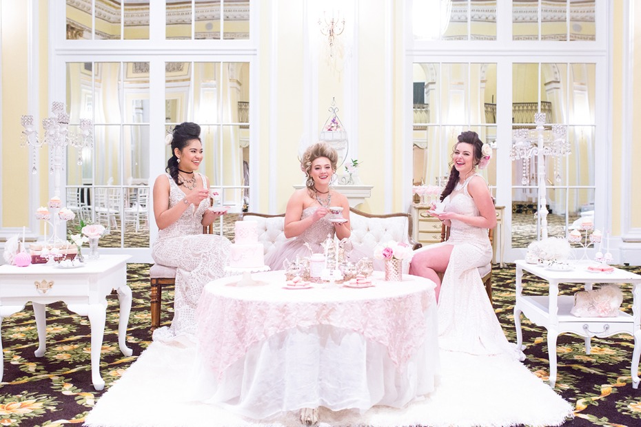 Marie Antoinette themed wedding