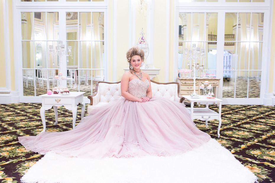 Marie Antoinette themed wedding dress