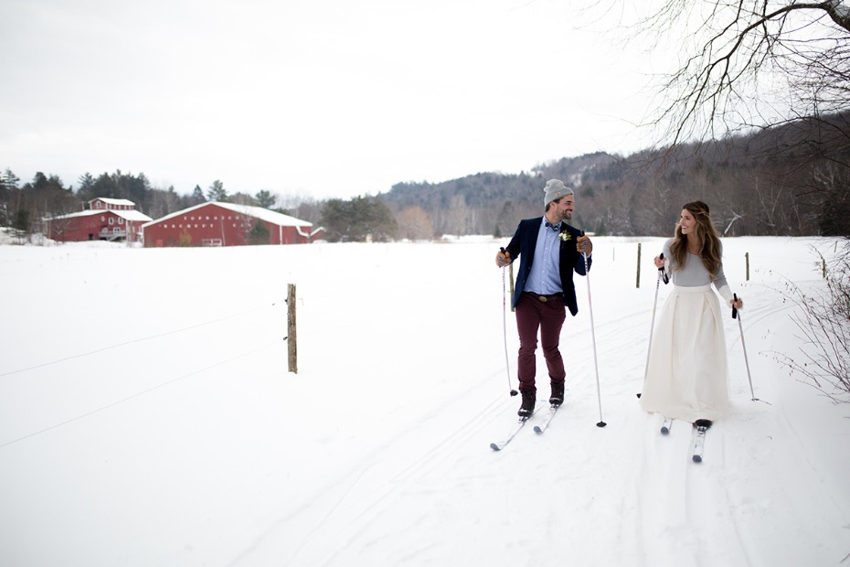 cross country bride and groom