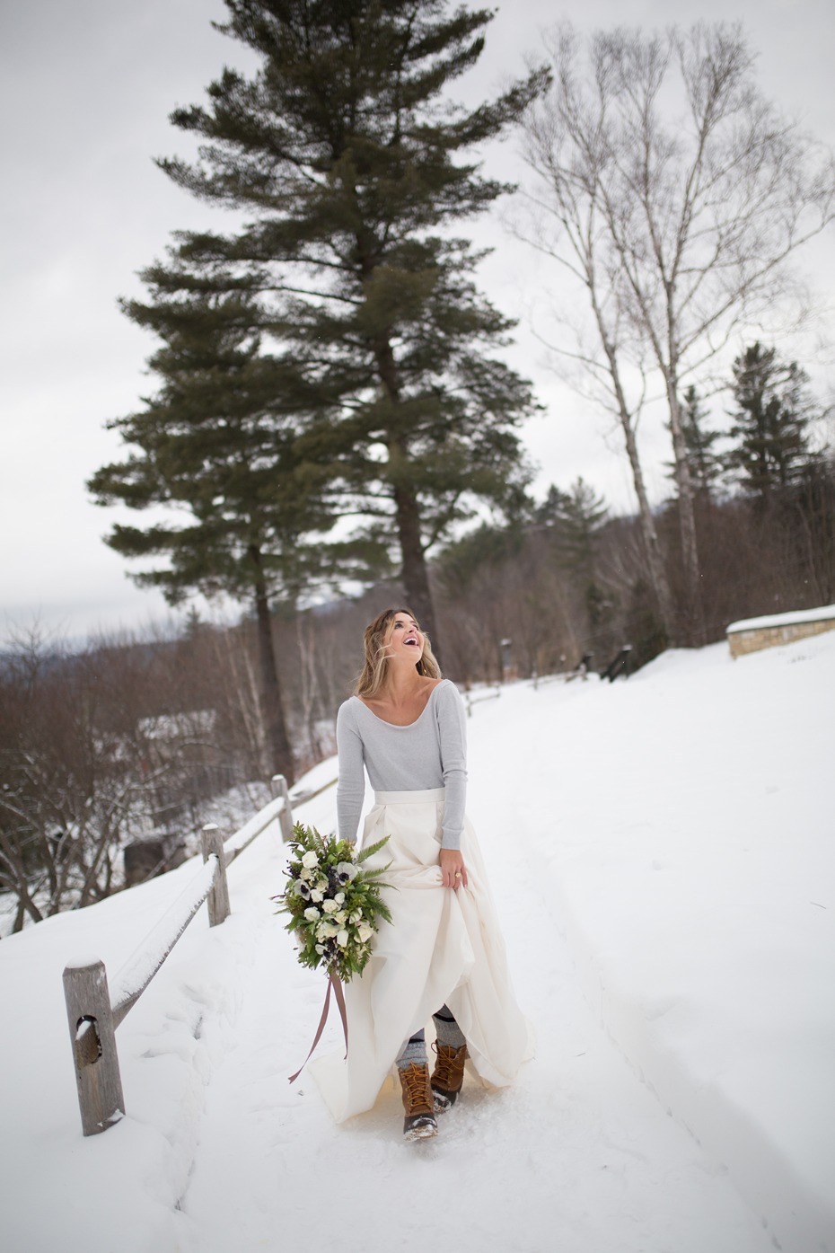 winter wedding style for the bride