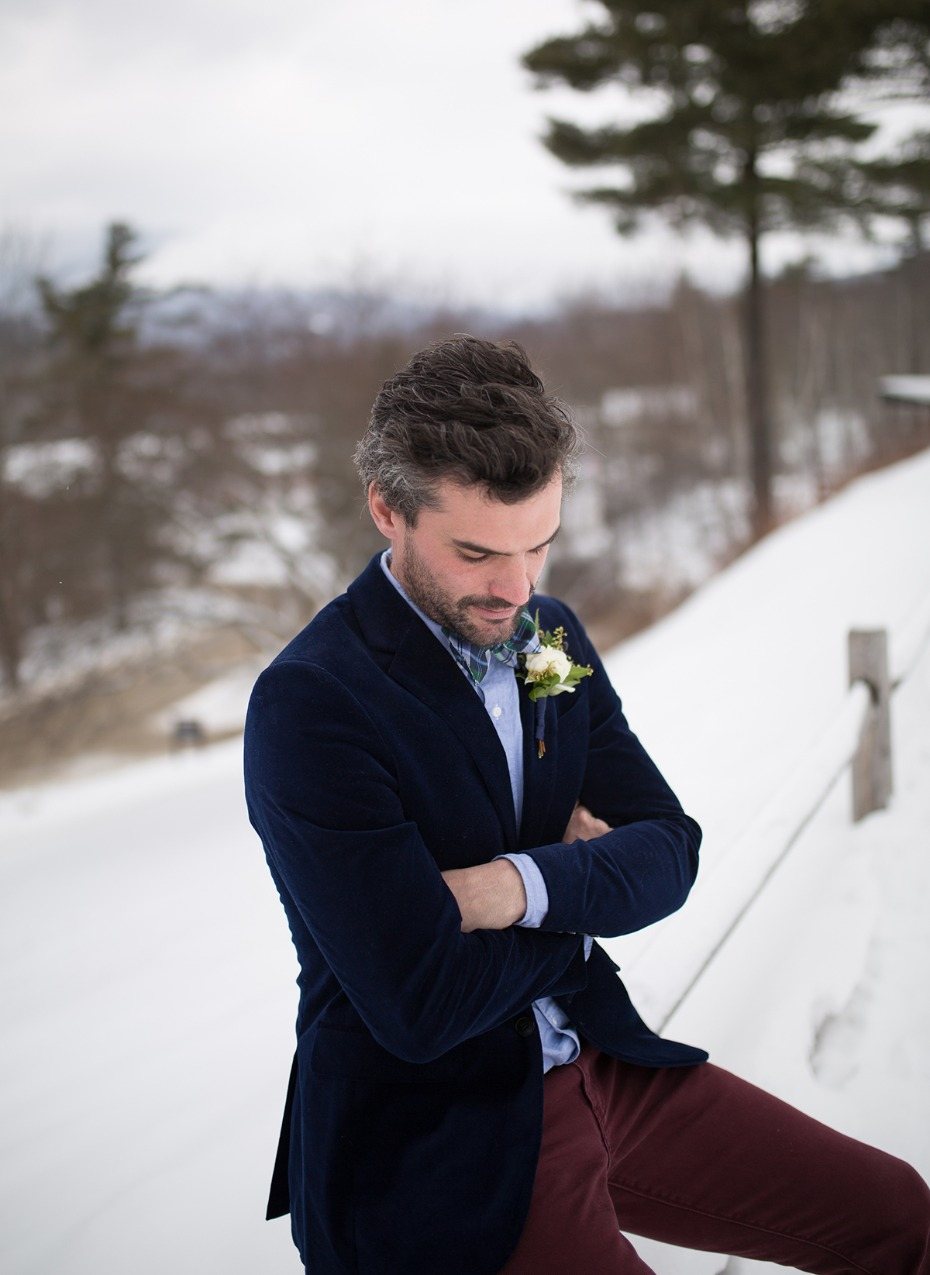 groom in mismatched style