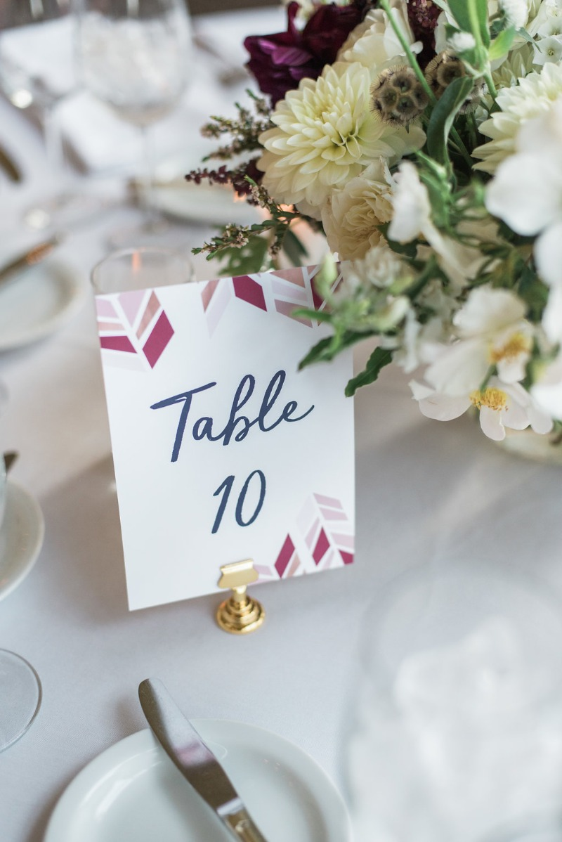 Up your tablescape game with table numbers that match your colors and theme! Come live chat with Miss Design Berry today to learn more