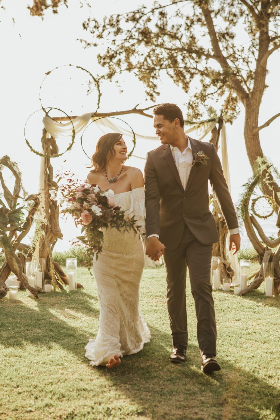 Boho ceremony in Big Sur