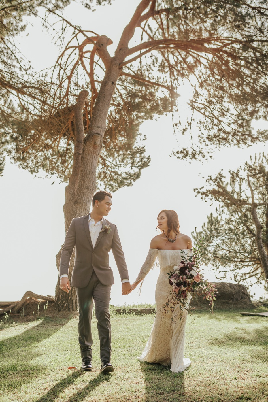 Bohemian styled wedding in Big Sur