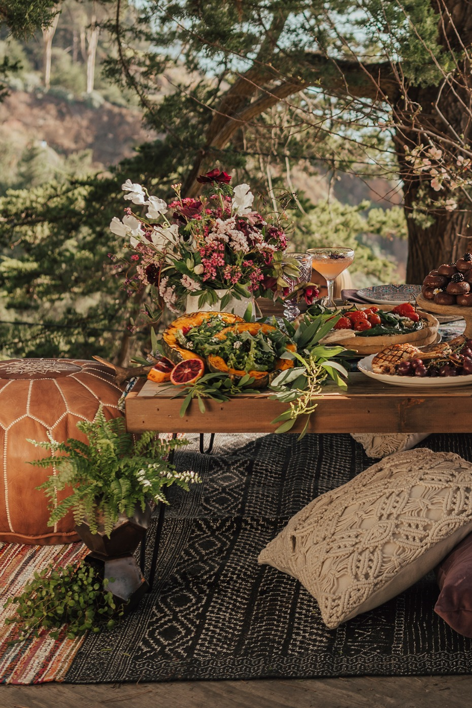 Bohemian picnic table design