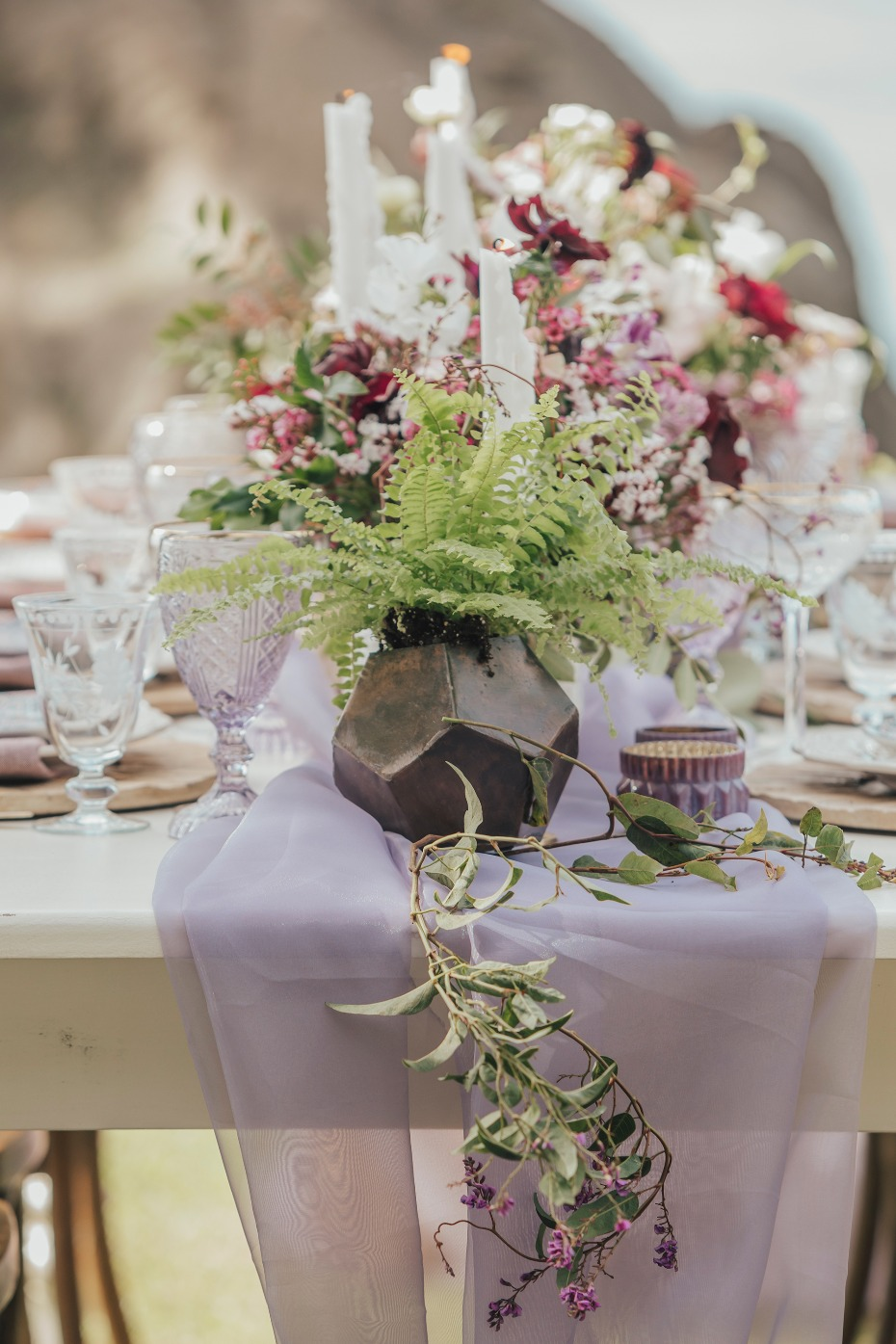 Add potted plants to your tablescape