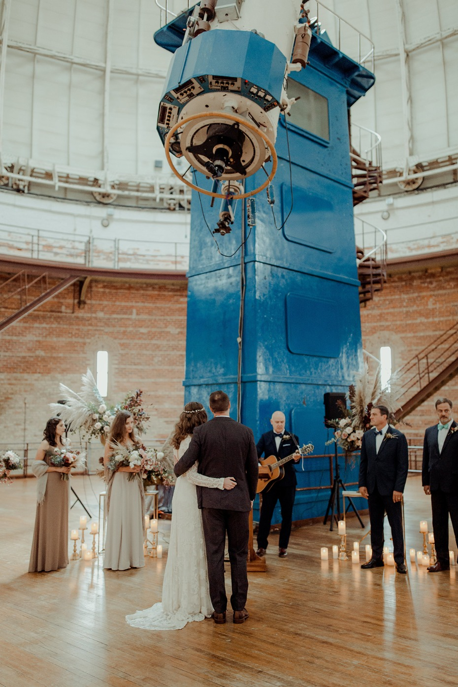 wedding at an observatory