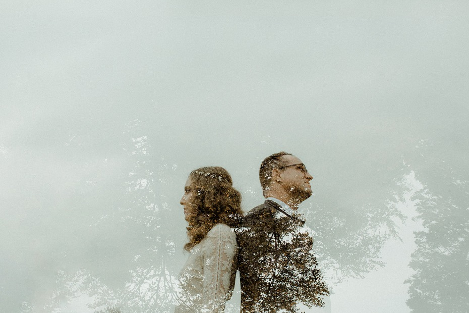 artistic wedding photo idea