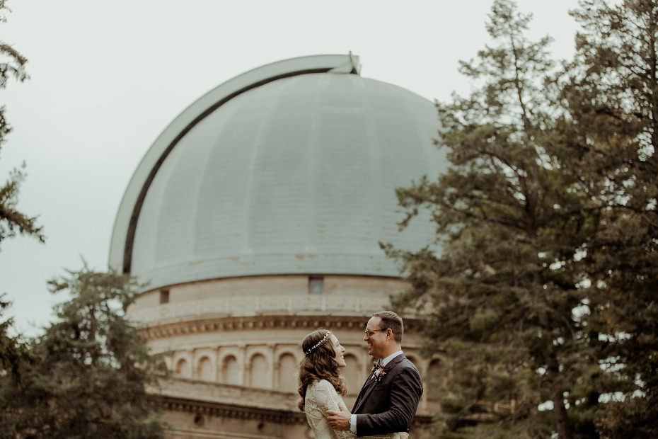 wedding at the observatory