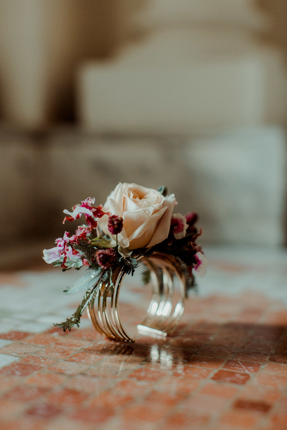 wedding corsage for the bride