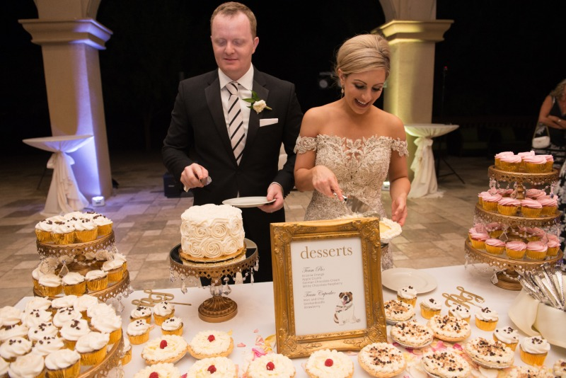 Have an amazing dessert bar like this couple? Miss Design Berry can create the perfect sign for you featuring all the sweet treats