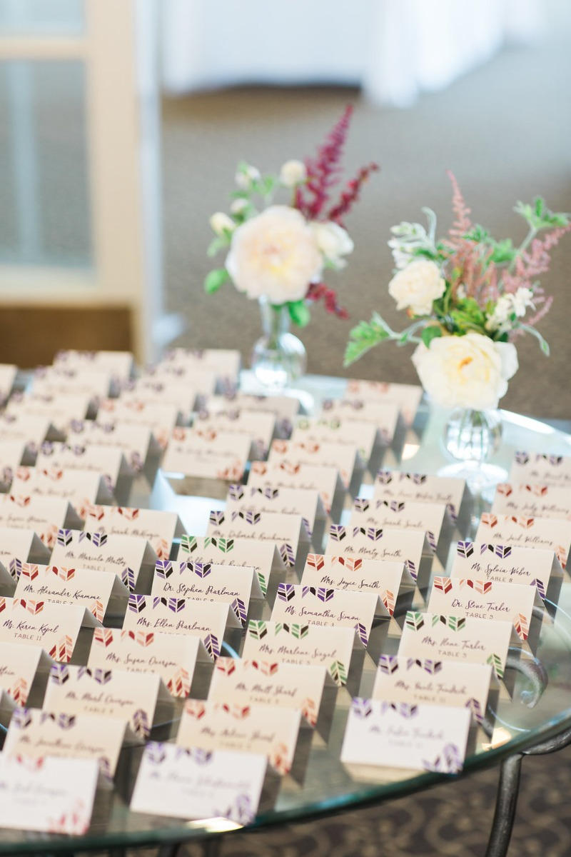 We LOVE these beautiful escort cards made for an amazing client! If you need cards that match your theme or would like a cohesive look