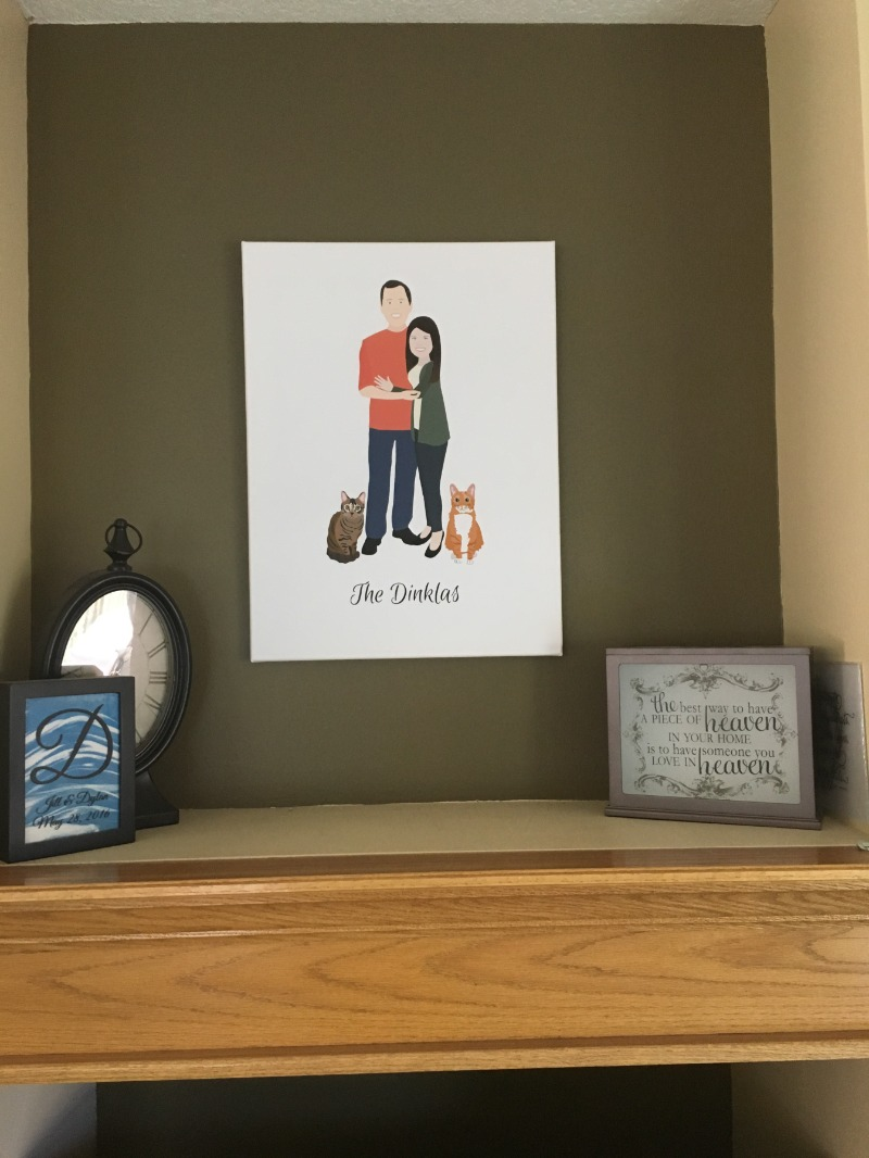 Love the look of this family portrait? We do too! Miss Design Berry can create art prints for any occasion and any color palette! Add