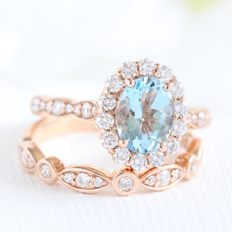 Shop Scalloped Halo Engagement Rings and Bridal Sets from La More Design here ~