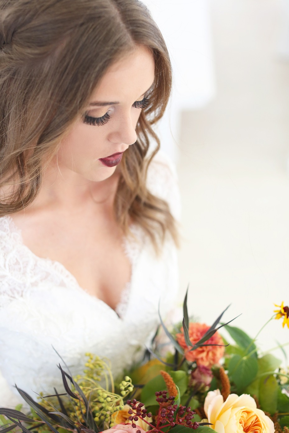 Flawless wedding makeup