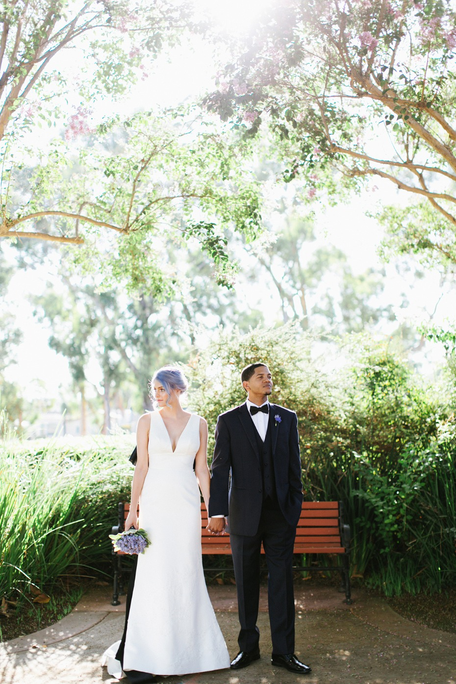 A very modern lavender wedding