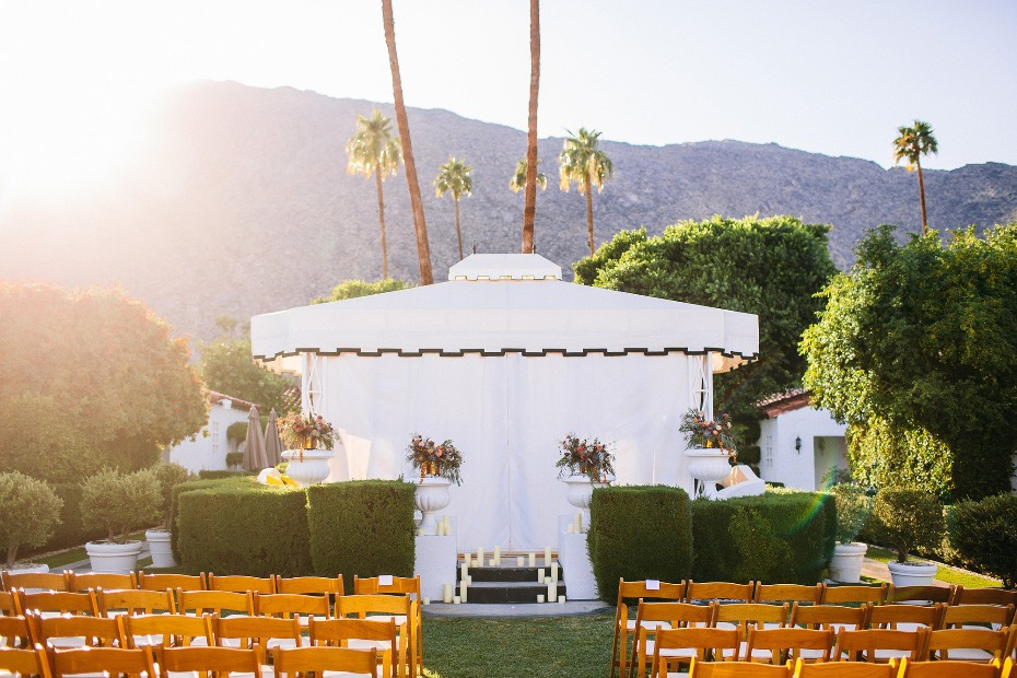 Modern outdoor wedding at the Avalon in Palm Springs