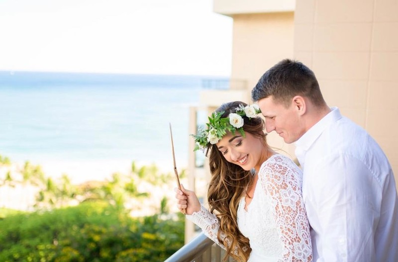 So excited to see this gorgeous wedding shoot at @hiltonhawaiianvillage