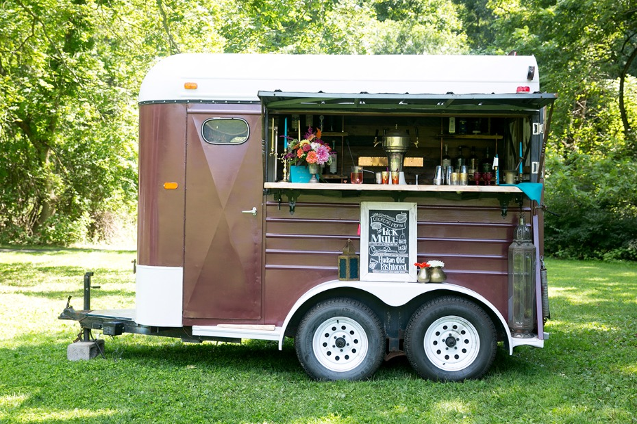 cute mobile wedding bar