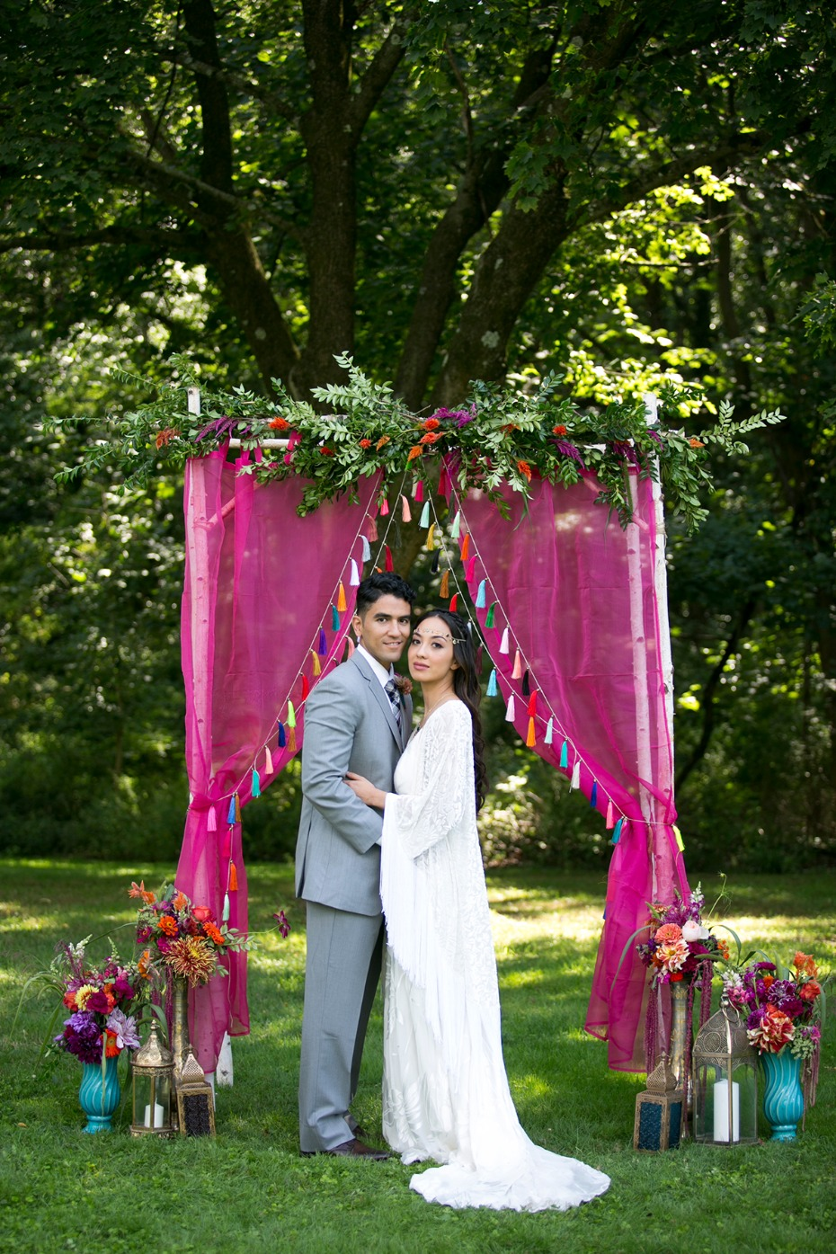 whimsical wedding style with bright colors