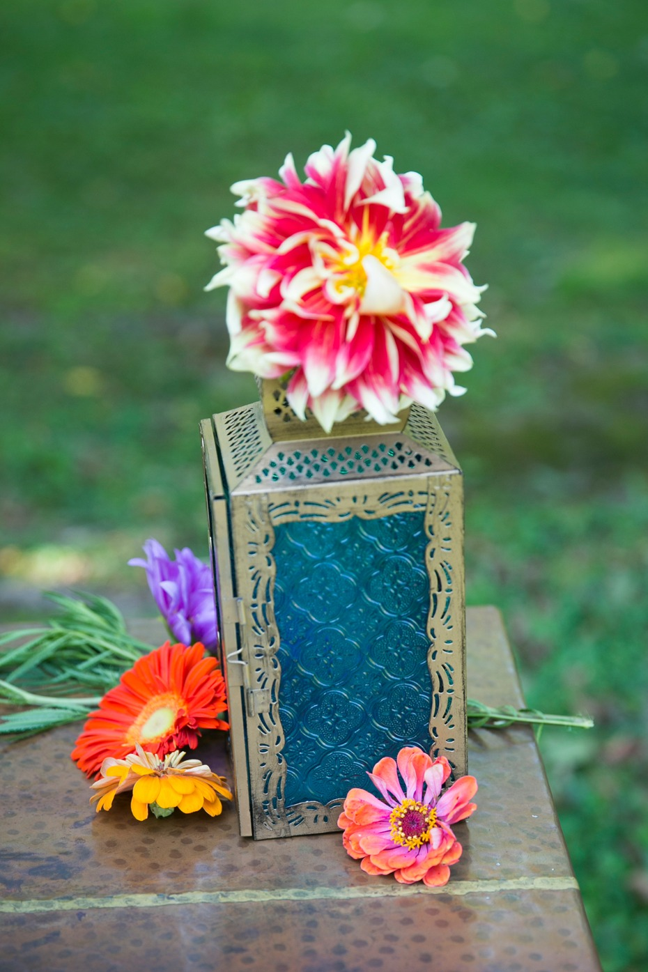 whimsical and colorful wedding decor