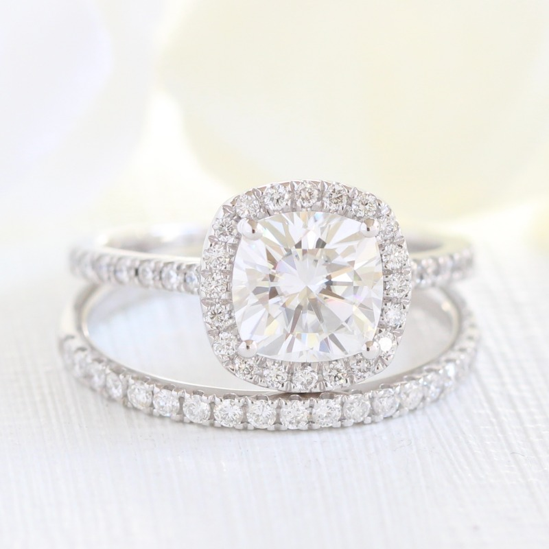 Forever One Moissanite Bridal Sets, a beautiful diamond alternative ~