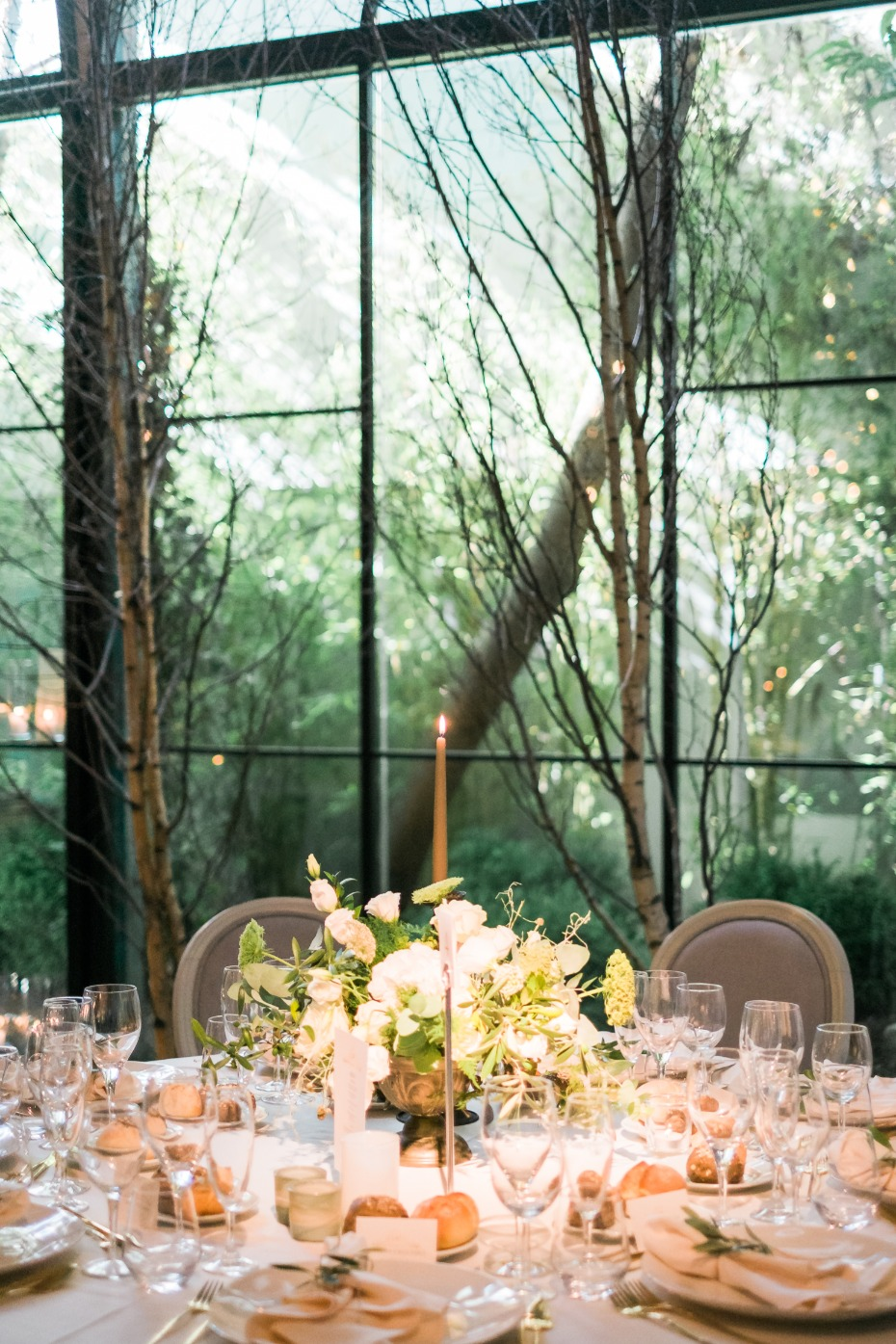 Modern earthy reception