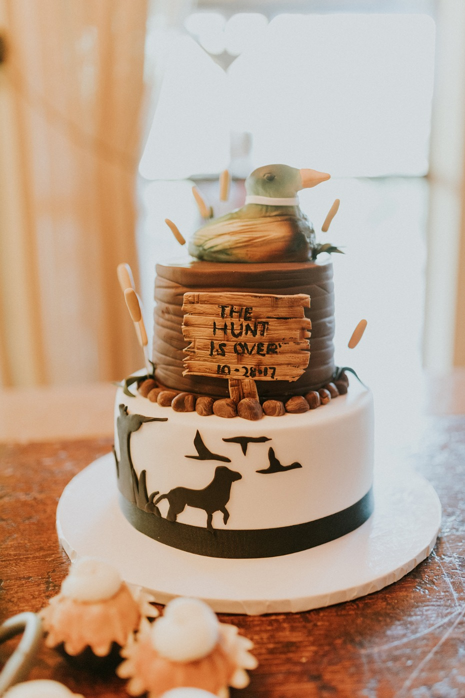 the hunt is over grooms cake