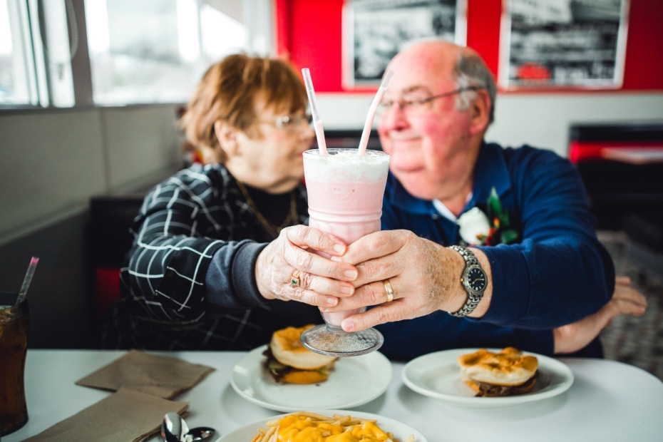 Couple Celebrates 55 Years Married at Steak 'N Shake